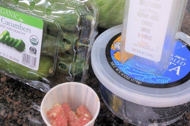 """<img src=""""Trader Joe's Watermelon Cucumber Slad.jpg"""" alt=""""トレジョすいかときゅうりのサラダ""""/>"""
