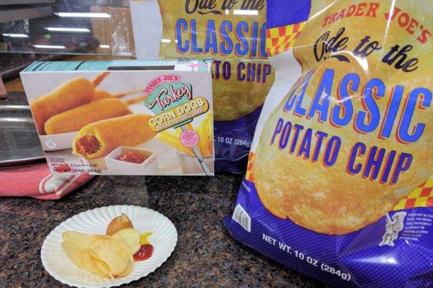 "<img src=""Trader Joe's Turkey Corn Dogs & Potato Chip.jpg"" alt=""Trader Joe's Turkey Corn Dogs & Potato Chip""/>"