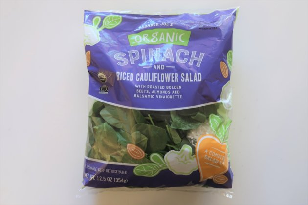 "<img src=""Trader Joe's Spinach and Riced Cauliflower Salad.jpg"" alt=""Trader Joe's Spinach and Riced Cauliflower Salad""/>"